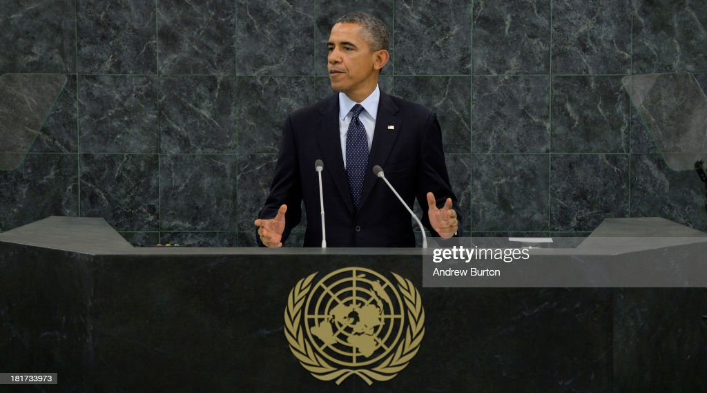 U.S. President Barack Obama speaks at the 68th United Nations General Assembly on September 24, 2013 in New York City. Over 120 prime ministers, presidents and monarchs are gathering this week at the U.N. for the annual meeting.