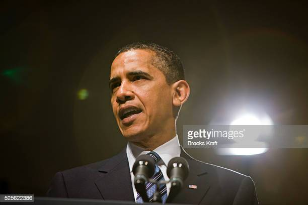President Barack Obama speaks at the annual meeting of the National Academy of Sciences in Washington.