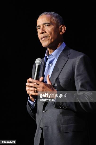 President Barack Obama speaks at the Obama Foundation Community Event on November 1 2017 in Chicago Illinois