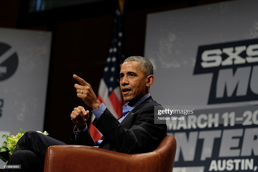 President Barack Obama - 2016 SXSW Music, Film + Interactive Festival : News Photo