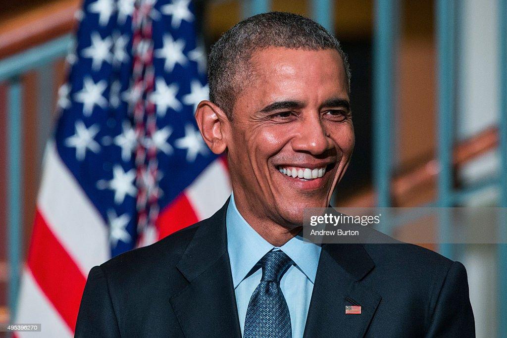 President Obama Speaks At The Newark Campus Of Rutgers University : News Photo