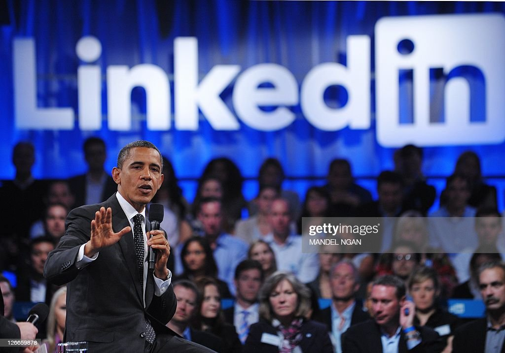 US President Barack Obama speaks during a Linkedin town hall meeting at the Computer History Museum September 26, 2011 in Mountain View, California. AFP PHOTO/Mandel NGAN