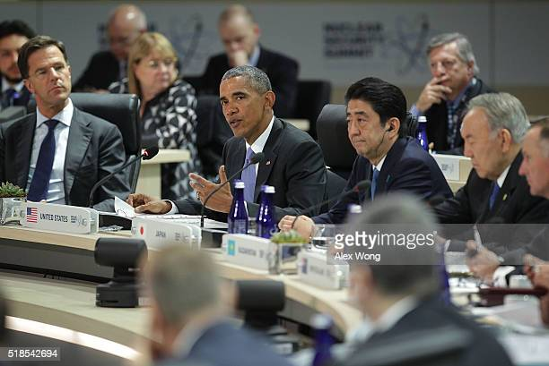 President Barack Obama speaks during a plenary session of the 2016 Nuclear Security Summit April 1, 2016 in Washington, DC. President Obama is...