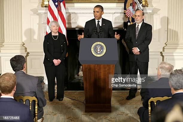 S President Barack Obama speaks during a press conference to nominate Janet Yellen to head the Federal Reserve as current Chairman of the Federal...