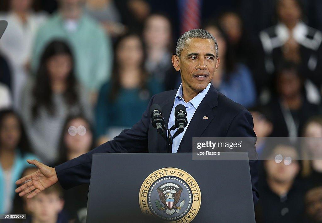 President Obama Discusses Action Points For 2016 In Nebraska : News Photo