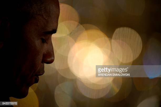 US President Barack Obama speaks during an event to celebrate the 2015 WNBA Champions Minnesota Lynx in the East Room of the White House June 27 2016...