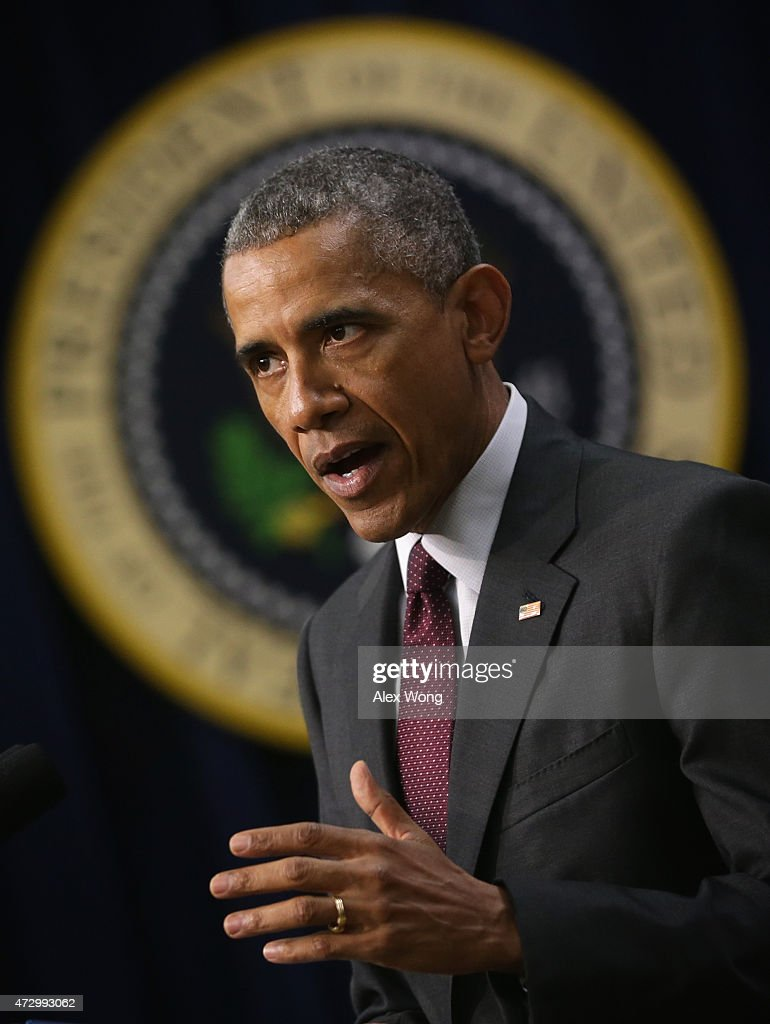 U.S. President Barack Obama speaks during an event to recognize emerging global entrepreneurs May 11, 2015 at the South Court Auditorium of Eisenhower Executive Office Building in Washington, DC. Entrepreneurs from across the U.S. and around the world participated, ahead of President Obamas travel to the Global Entrepreneurship Summit in Kenya this summer, in the event which focused on investing in women and young entrepreneurs.