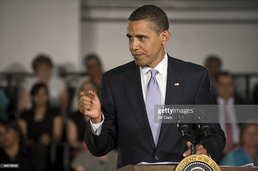 President Barack Obama speaks during his Healthcare Town Hall and Online Town Hall Meeting at the Annandale Campus of the Northern Virginia Community College on Wednesday, July 1, 2009.