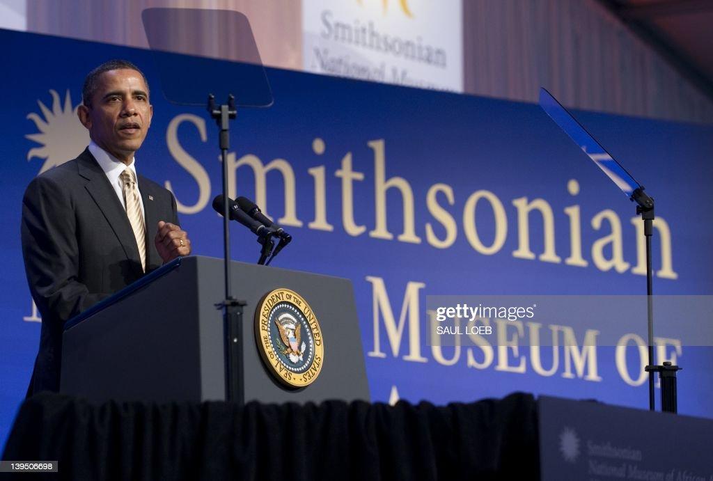US President Barack Obama speaks during : News Photo