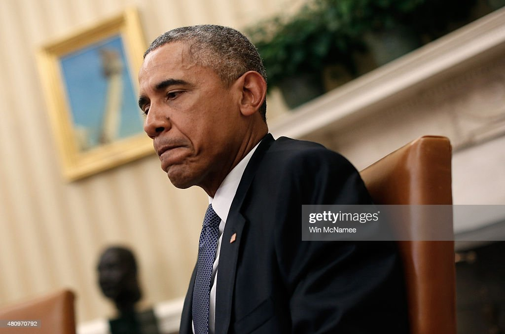 oval office july 2015. U.S. President Barack Obama Speaks From The Oval Office July 16, 2015 In  Washington, Oval Office July P