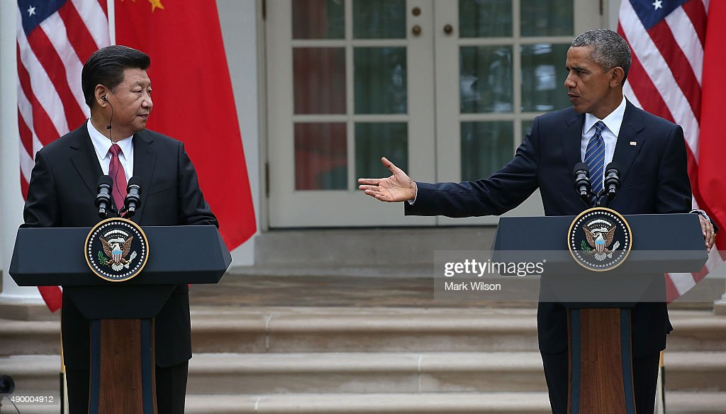 President Obama Hosts Chinese President Xi Jinping For State Visit : News Photo