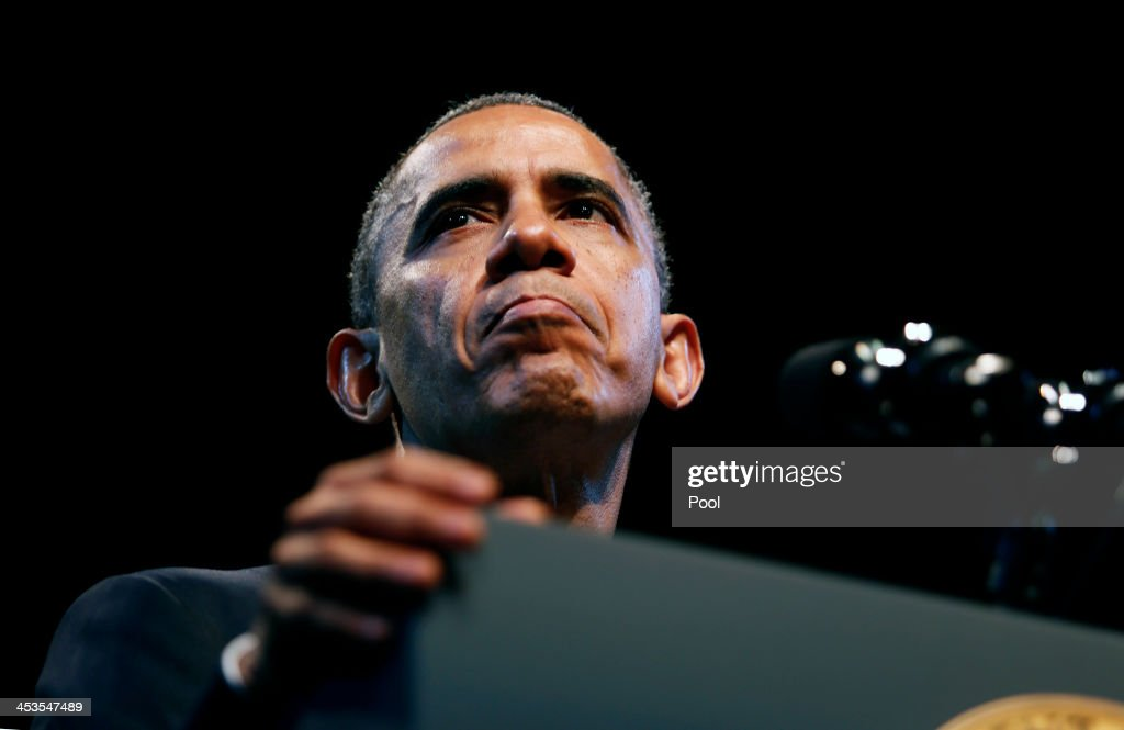 Obama Speaks Economic Inequality : News Photo