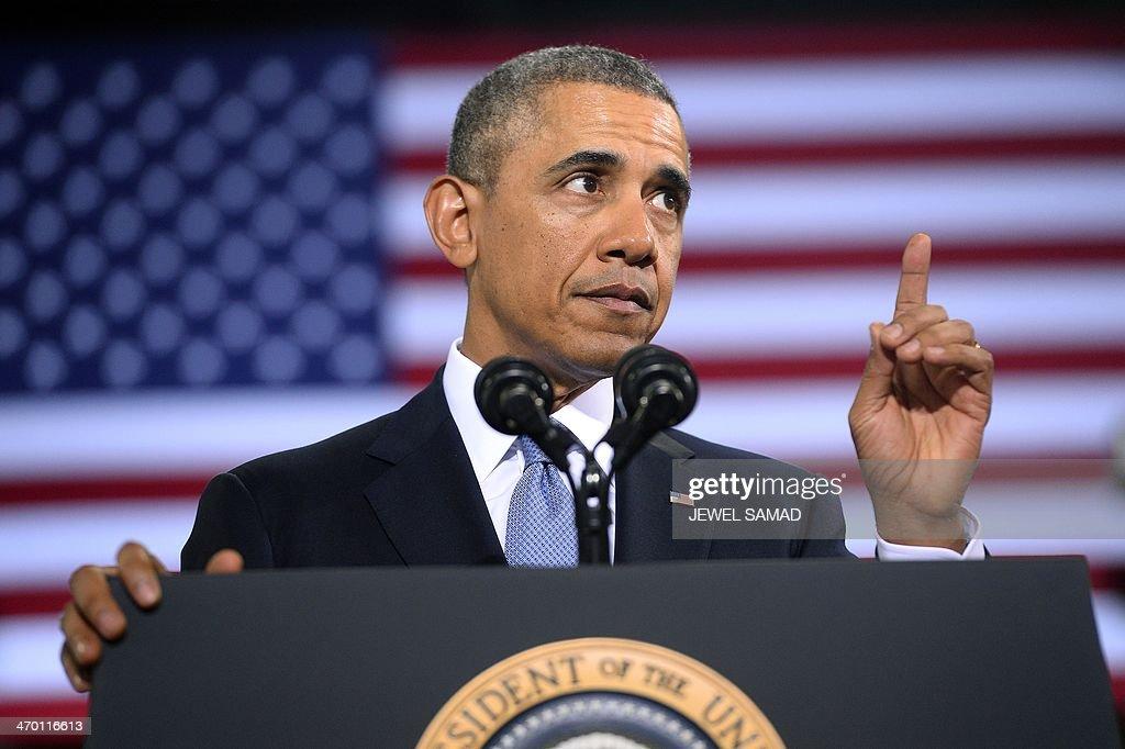 US-POLITICS-ECONOMY-OBAMA : News Photo