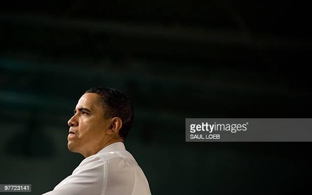 President Barack Obama speaks on healthcare insurance reform at the Walter F. Ehrnelt Recreation and Senior Center in Strongsville, Ohio, March 15,...