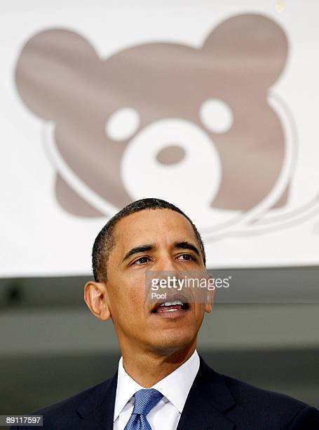President Barack Obama speaks to healthcare providers at Children's National Medical Center July 20, 2009 in Washington, DC. According to reports,...