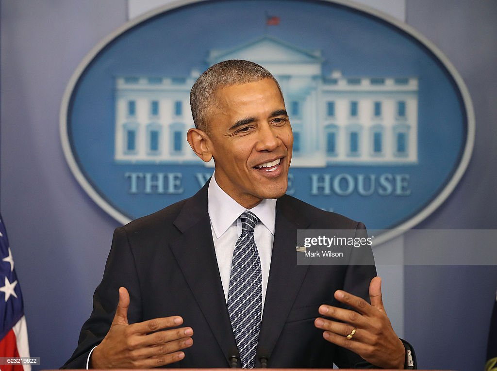 President Obama Holds Press Conference At The White House