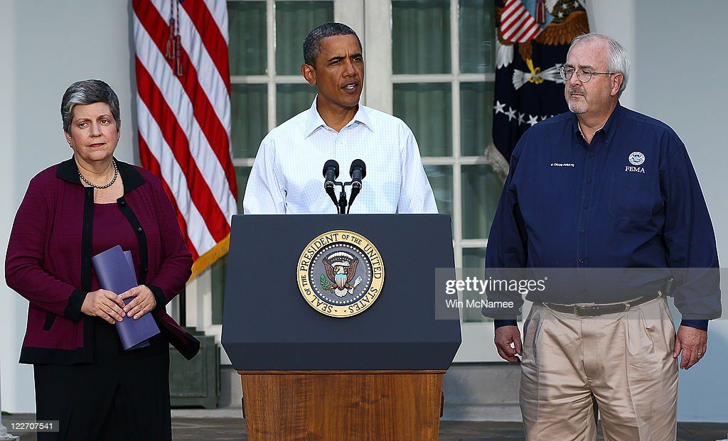Obama Makes Statement On Hurricane Irene At White House