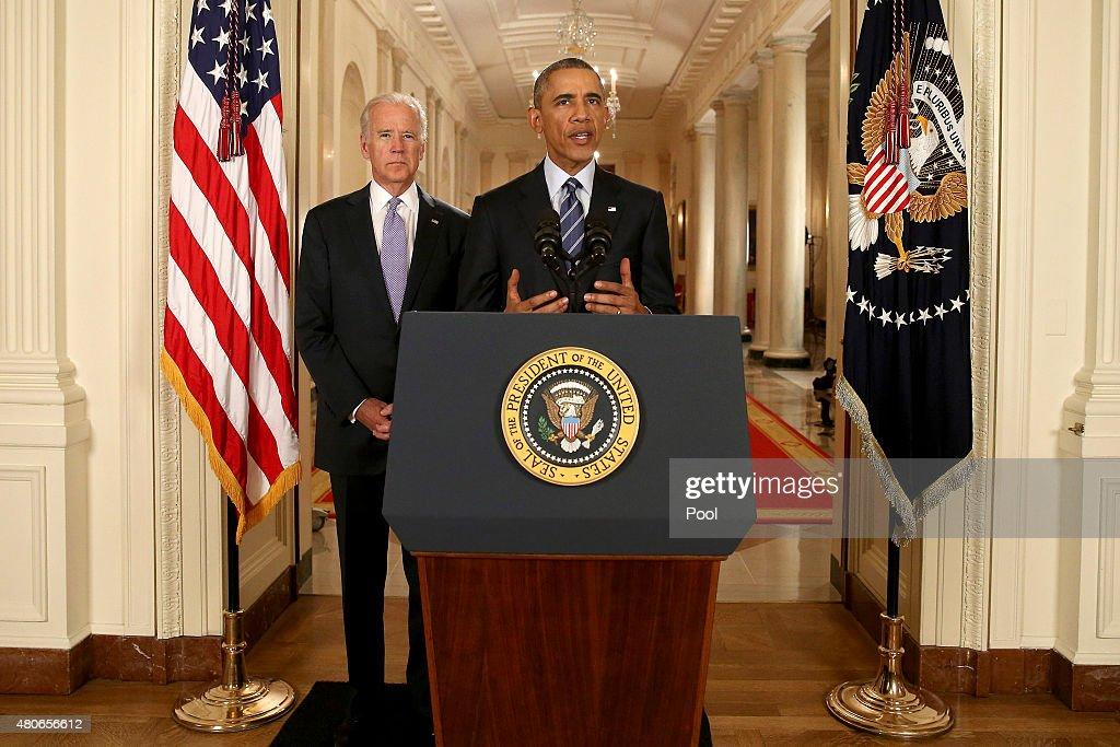 President Obama Addresses Iran Nuclear Deal : News Photo