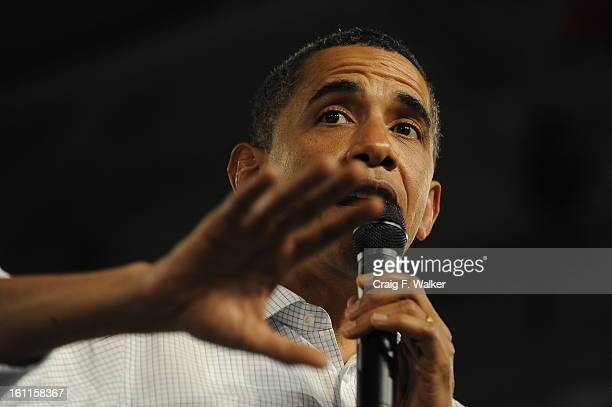 OBAMA_081509_CFW President Barack Obama takes questions during his town hall meeting at Central High School in Grand Junction CO The president held...