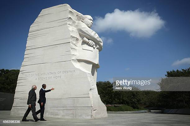 S President Barack Obama visits the Martin Luther King Memorial with Indian Prime Minister Narendra Modi after an Oval Office meeting at the White...