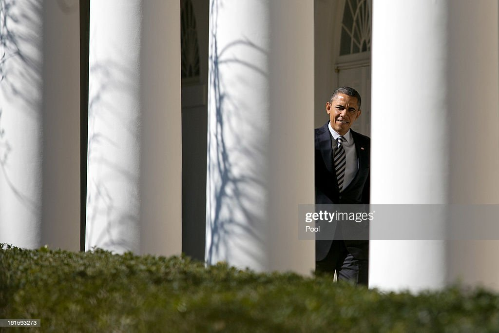 Obama At White House Prior To State of the Union