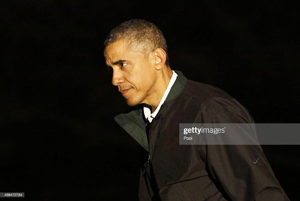 US President Barack Obama Returns To The White House : News Photo
