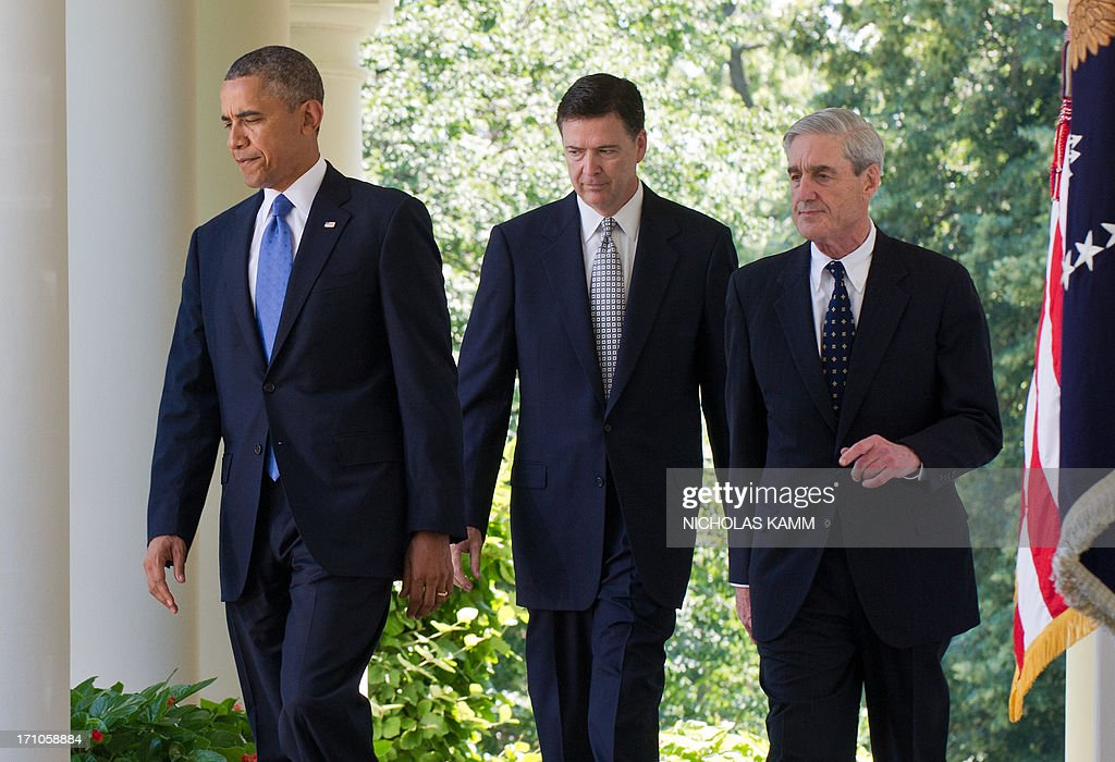 US-POLITICS-SECURITY-INTELLIGENCE-FBI-OBAMA-COMEY : News Photo