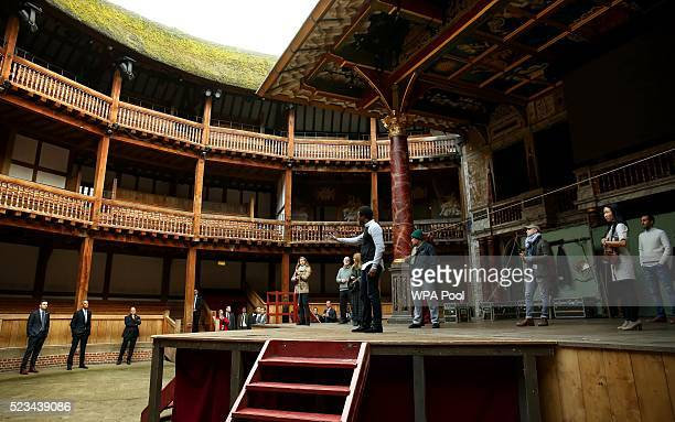 President Barack Obama watches a performance during a visit to the Globe Theatre in London to mark the 400th anniversary of the death of William...