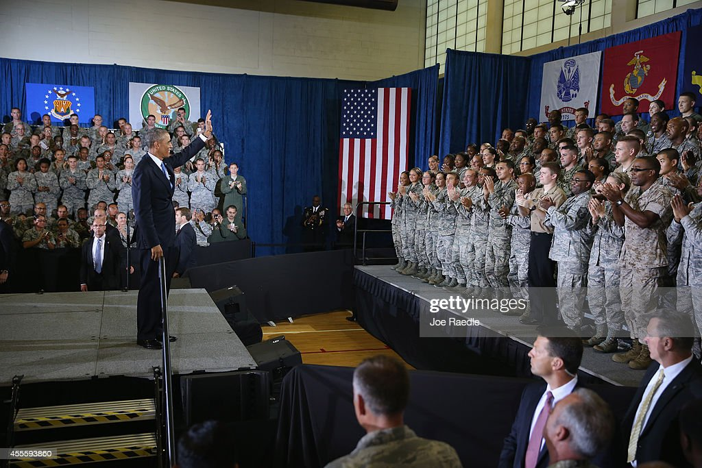 President Obama Speaks At U.S. Central Command At Macdill Air Force Base : News Photo