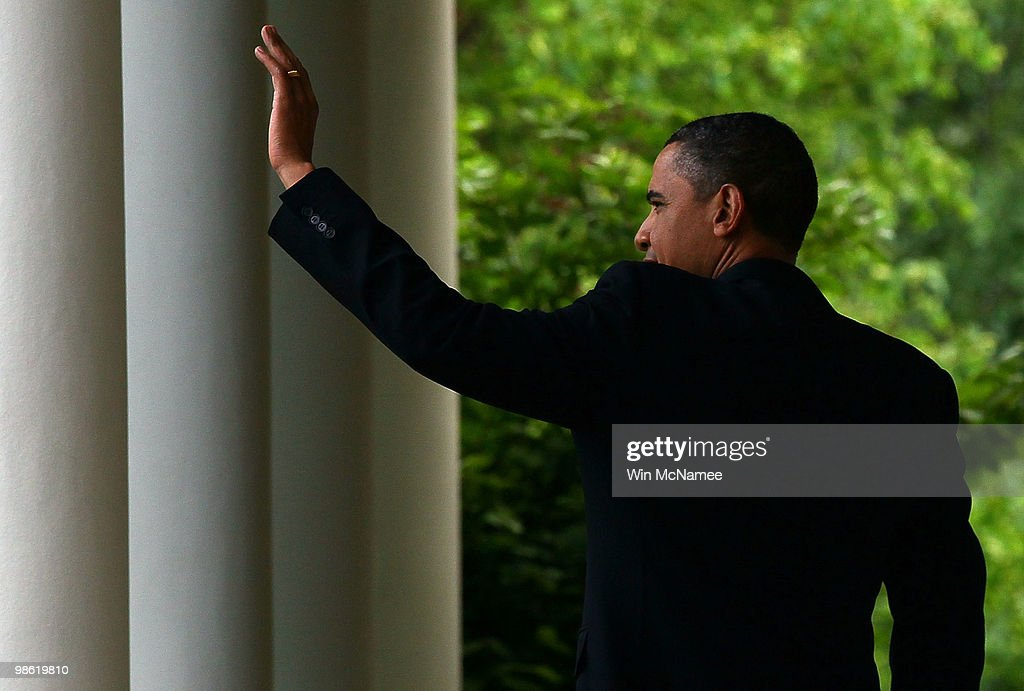 U.S. President Barack Obama waves to guests during a reception marking Earth Day at the White House April 22, 2010 in Washington, DC. Today marks the 40th anniversary of the Earth Day movement.
