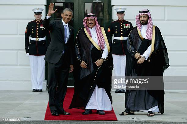 S President Barack Obama welcomes Crown Prince Mohammed bin Nayef and Deputy Crown Prince Mohammed bin Salman of Saudi Arabia to the White House May...