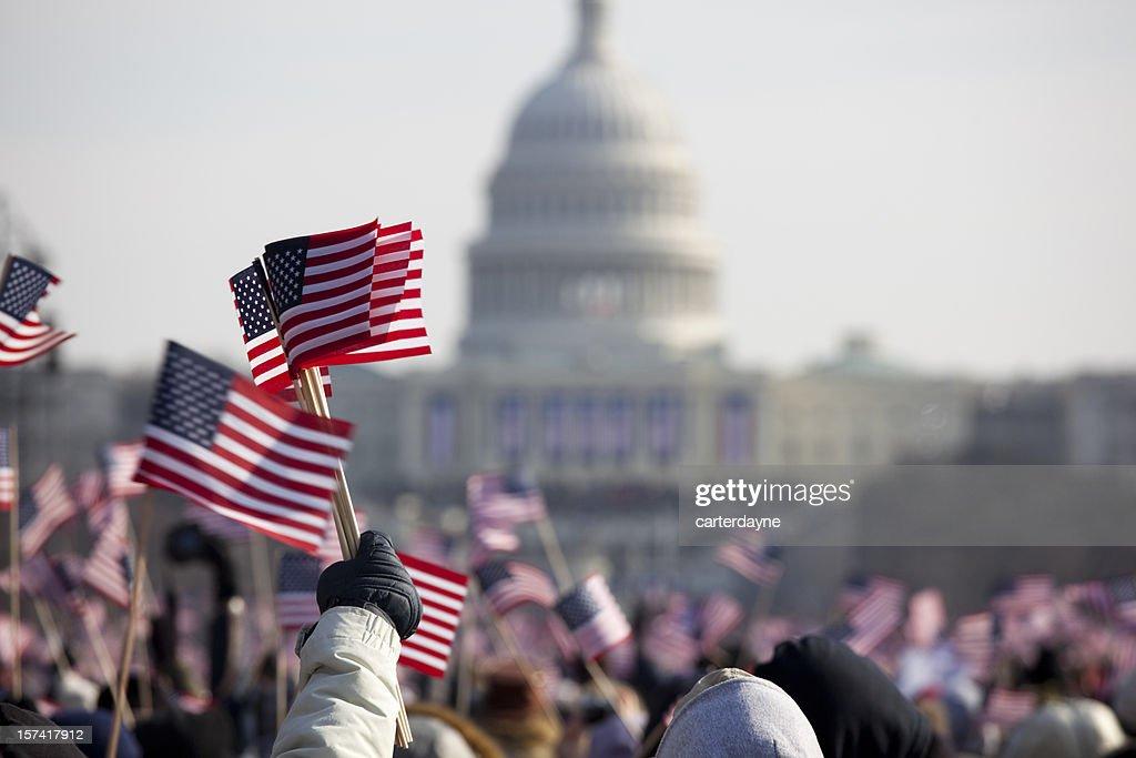 President Barack Obama's Presidential Inauguration at Capitol Building, Washington DC : Stock Photo