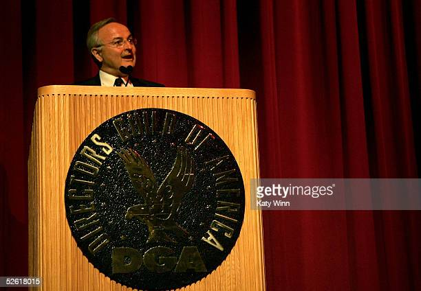 President Bernard Miyet addresses the audience at the 9th Annual City of Lights, City of Angels Film Festival held at the Directors Guild building on...