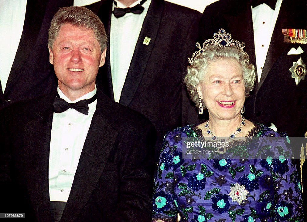US President Bill Clinton and Britain's : News Photo