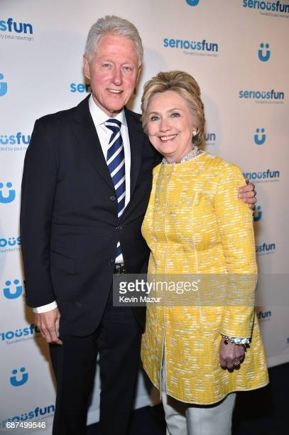 President Bill Clinton and Former United States Secretary of State Hillary Clinton attend the SeriousFun Children's Network Gala at Pier 60 on May 23...