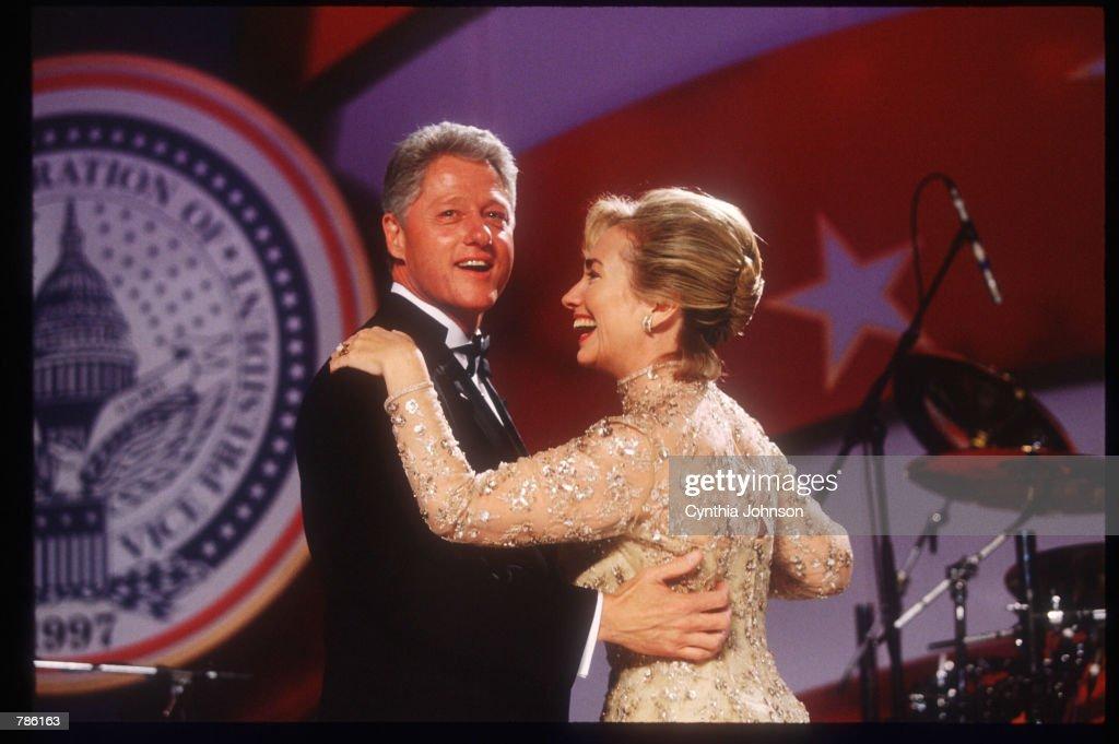 Clintons Celebrate At Inaugural Balls : News Photo