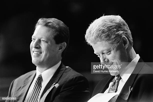 S President Bill Clinton and Vice President Al Gore on the campaign trail during their reelection bid in 1996