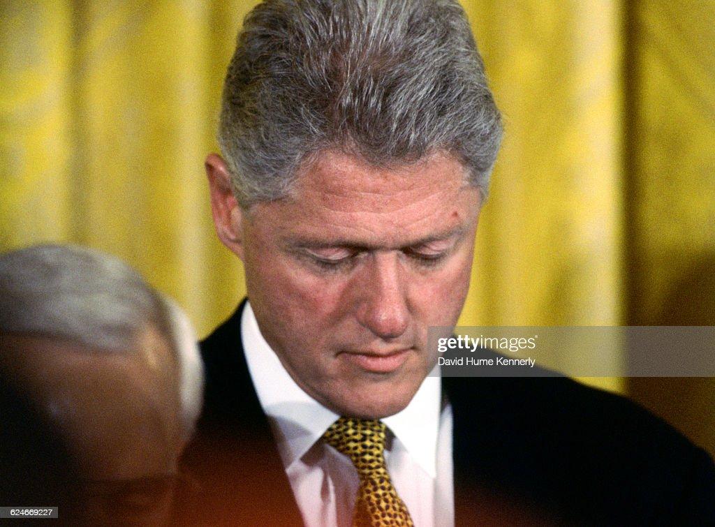 Clinton's 'I Have Sinned' Speech : News Photo