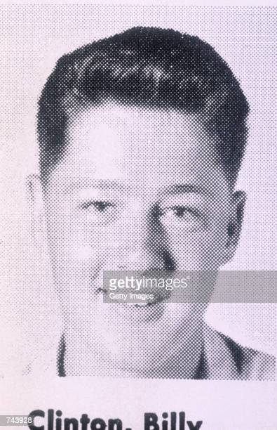 President Bill Clinton at the age of 16 in his high school yearbook photograph in the early 1960's