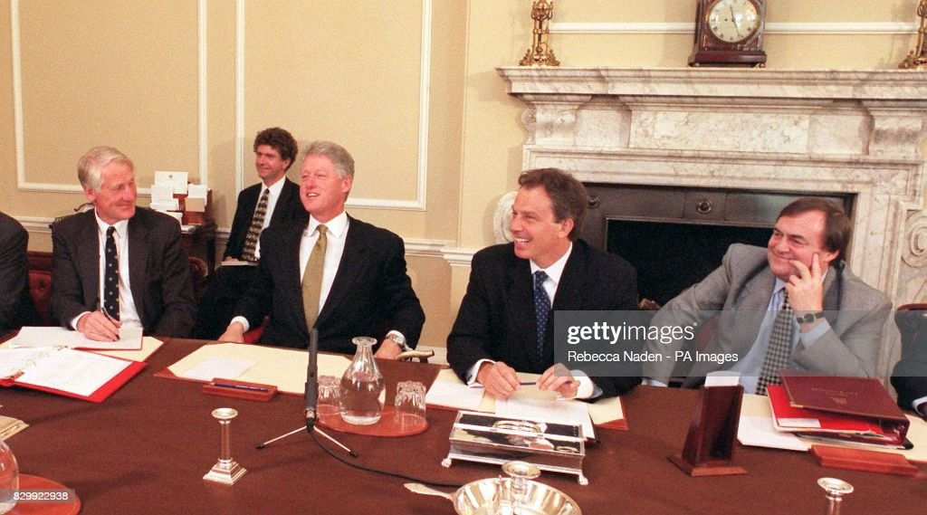 US President Bill Clinton Attends A Cabinet Meeting In Downing Street Today  (Thursday),