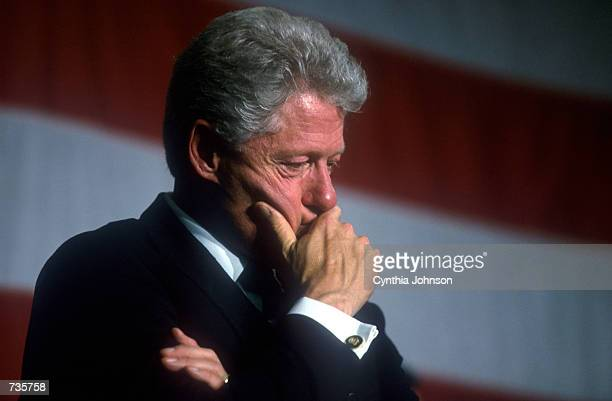 President Bill Clinton attends a political rally November 5 2000 in Pine Bluff AK