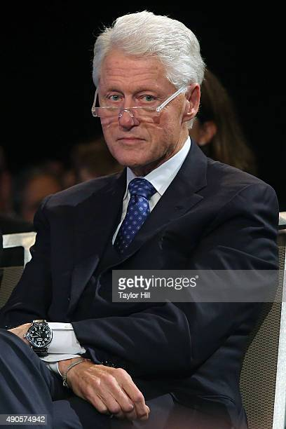 President Bill Clinton attends the 2015 Clinton Global Initiative Closing Plenary at Sheraton Times Square on September 29 2015 in New York City