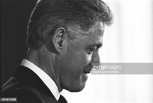 President Bill Clinton unveils a new initiative to improve economic opportunities for Americans with disabilities in the East Room of the White House...