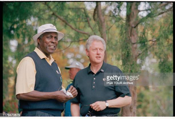 President Bill Clinton, Vernon Jordan 2000 Presidents Cup - October Robert Trent Jones Golf Club in Gainesville, Virginia, U.S. PGA TOUR Archive via...