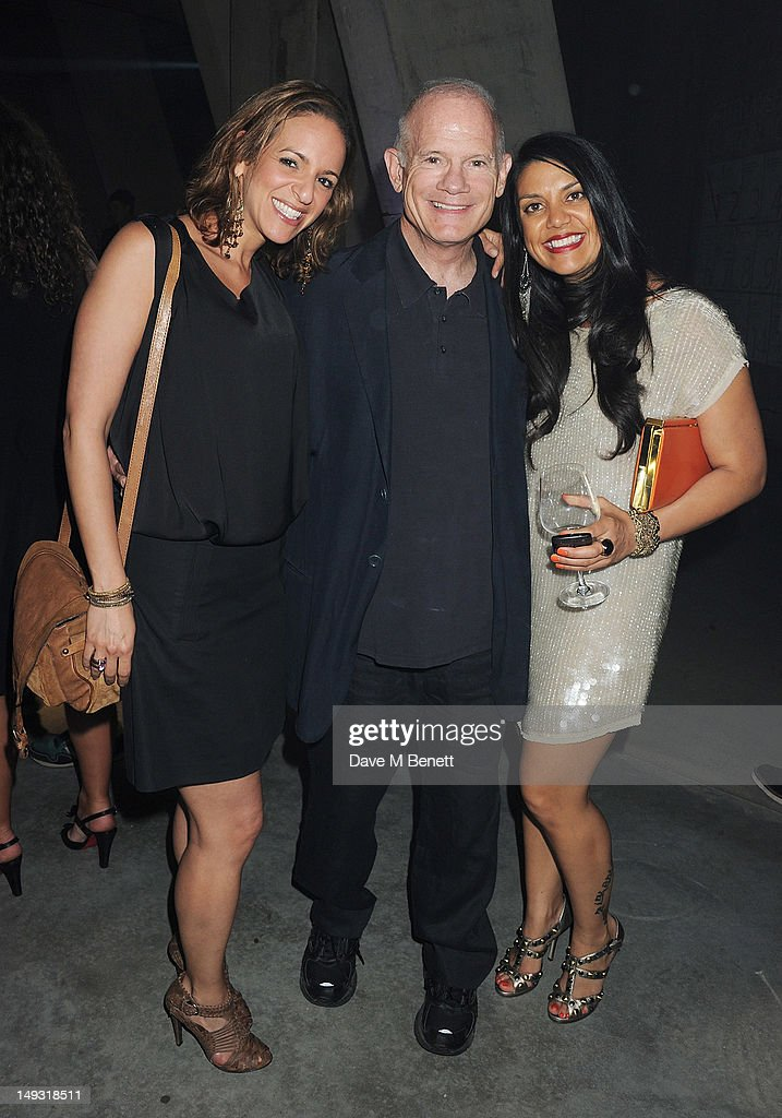 MTV President Bill Roedy (C) arrives at the Warner Music Group Pre-Olympics Party in the Southern Tanks Gallery at the Tate Modern on July 26, 2012 in London, England.