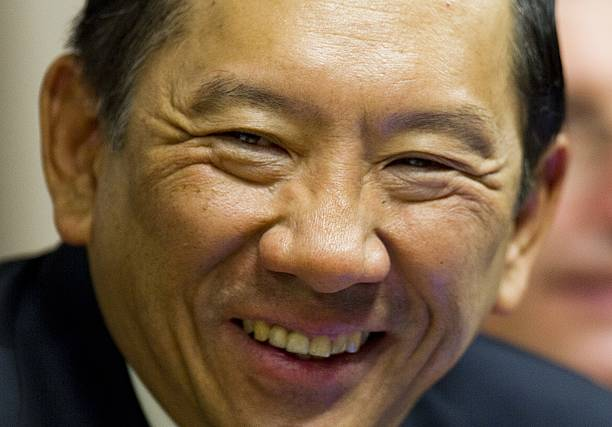 INTERPOL President Boon Hui Khoo (L) spe Pictures | Getty Images