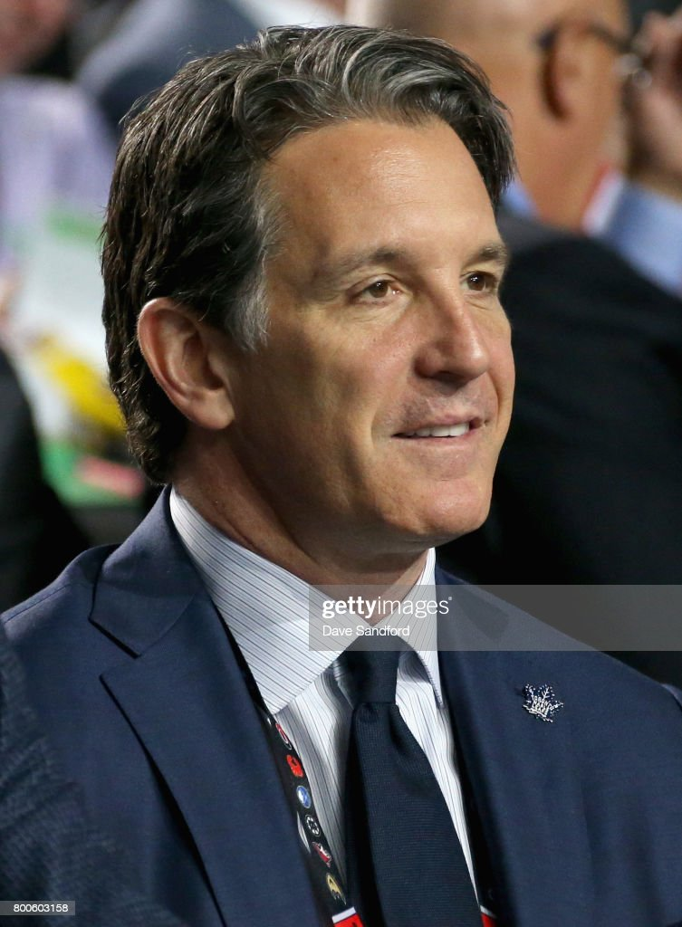President Brendan Shanahan of the Toronto Maple Leafs attends the 2017 NHL Draft at United Center on June 24, 2017 in Chicago, Illinois.