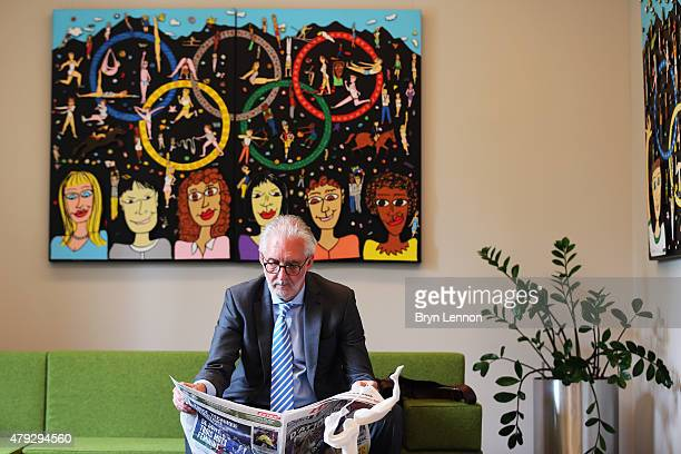 President Brian Cookson attends a meeting at the IOC Headquarters in Lausanne on June 22 2015 in Lausanne