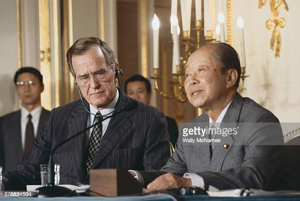 President Bush and Japanese Prime Minister Miyazawa