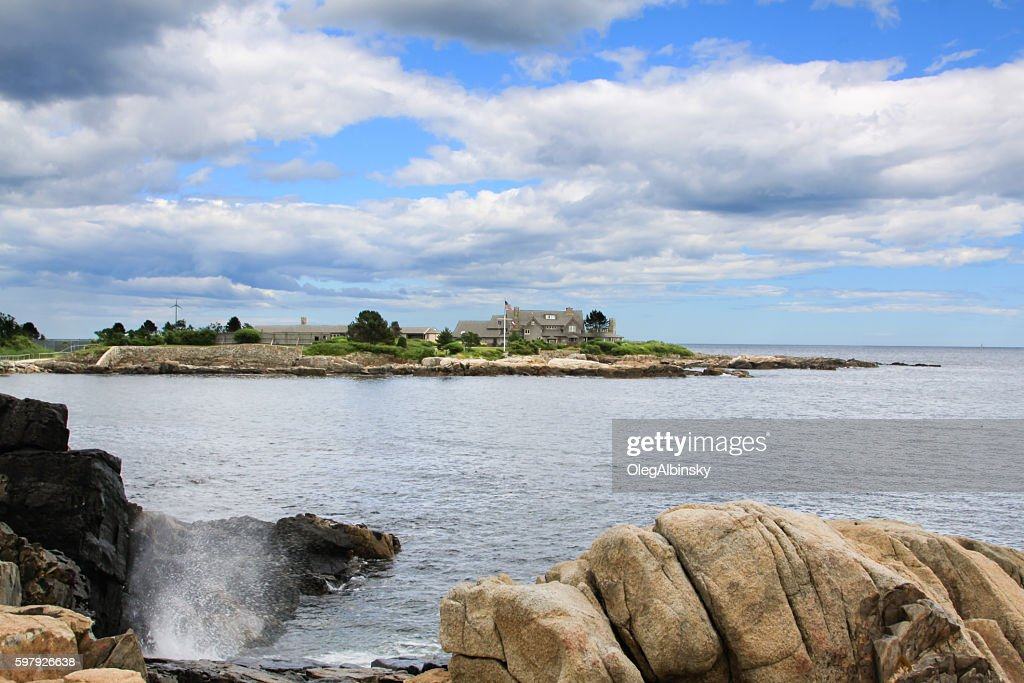 President Bush Compound Kennebunkport Maine Stock Photo Getty Images